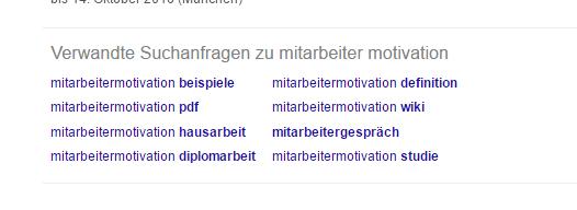Verwandte Suchanfragen Google Suche